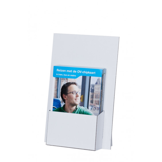 display karton A5(+topkaart), wit